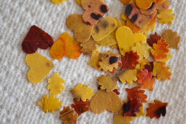 Confetti pile