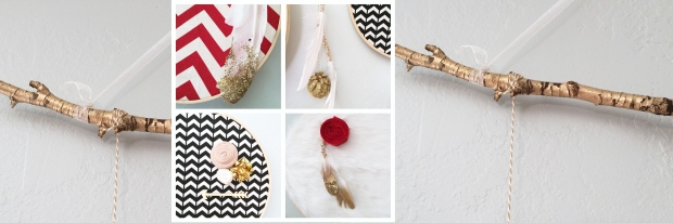 Christmas Holiday Dreamcatcher collage